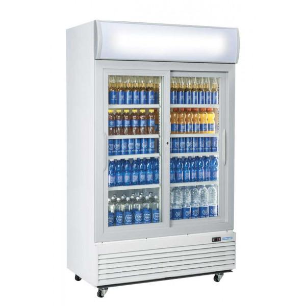 Armoire Réfrigérée Positive 1000 Litres Double Portes Vitrées