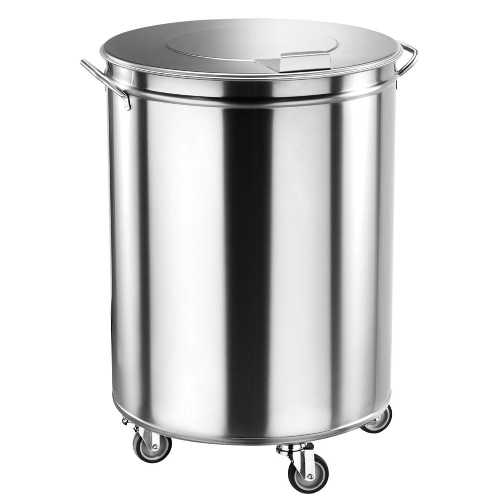 Poubelle Cylindrique à Déchets Inox 100 Litres   Multigroup
