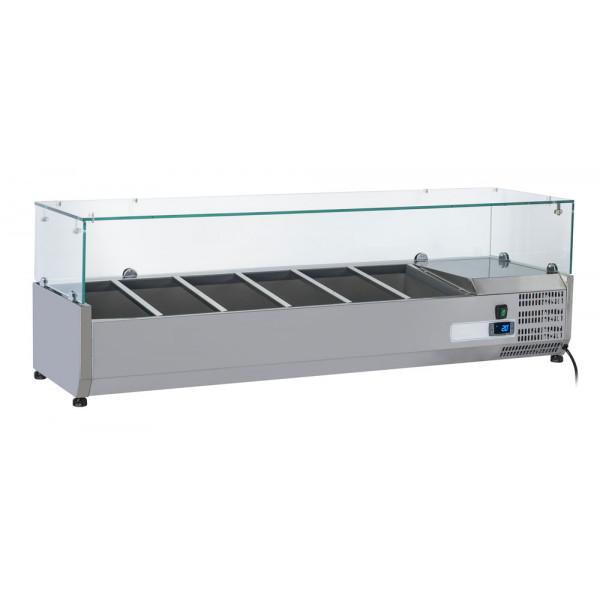 Kit Gastro Line Réfrigéré Vitré 4 x GN 1/3 + 1 x GN 1/2