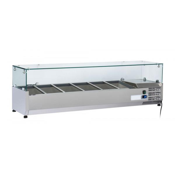 Kit Gastro Line Réfrigéré Vitré 5 x GN 1/3 + 1 x GN 1/2