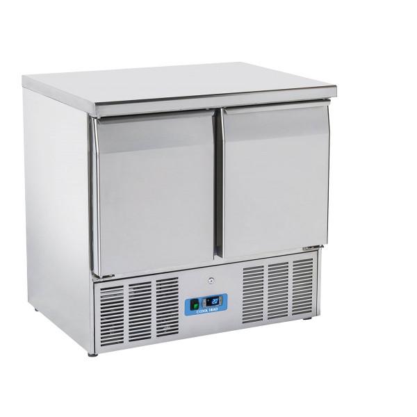 Table Réfrigérée Centrale Inox 2 Portes GN 1/1