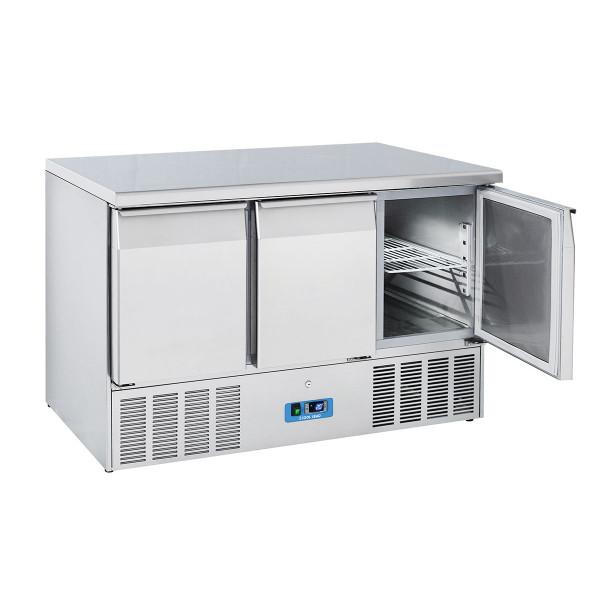 Table Réfrigérée Centrale Inox 3 Portes GN 1/1
